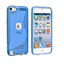 "4"" Apple iPod Touch 5 5G 5th Gen TPU Silicone Rubber Soft Cover Case + Protector"