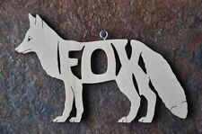 Fox  Nature Woodland Animal  Wood  Christmas Ornament Gift Tag  USA