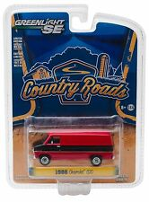 1:64 GreenLight *COUNTRY ROADS R15* Red & Black 1986 Chevrolet G20 Van *NIP*