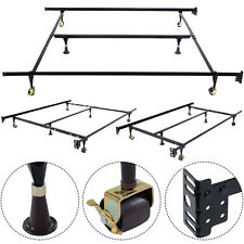GOPLUS Metal Bed Frame Adjustable Queen Full Twin Size W/ Center Support