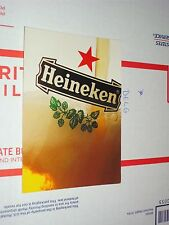 Heineken Logo Advertising Beer Mug Pore Bar Tap Glass Postcard alcohol beverage