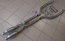 BMW E90 E92 E93 M3 08-12 TRACK SPEC Exhaust Dual Resonator Mid Pipe X Pipe 63mm