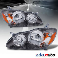 2005 2006 2007 2008 Toyota Corolla (S/XRS Models) Headlights Head Lamps Set