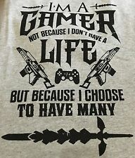 I'M A GAMER T-SHIRT XBOX PLAYSTATION ONLINE GAMING T SHIRT BRAND NEW SIZE XXL