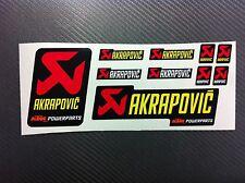 Kit 10 Adesivi Stickers AKRAPOVIC Power resistente al calore