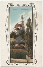 Jugendstil Litho Ak Kamenz Hauptkirche 1912 ! (A1680