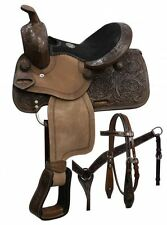 "10"" Double T pony saddle set with copper colored starburst conchos."