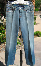 "7 FOR ALL MANKIND WOMEN'S Sz28 FADES Light TO MEDIUM Wash Denim Jeans -30""INSEAM"