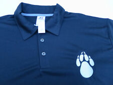 NEW Russell Athletic Black Polo T Shirt with Bear Paw upper left Mens L Large