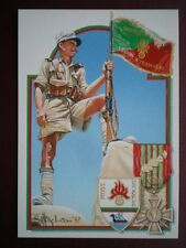 POSTCARD WWII SOUS OFFICER OF 13IEME DEMI-BRIGADE DE HAUTE MONTAGNE  DUTY HONOUR