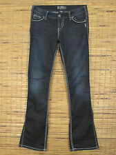 "Silver Jeans FRANCES 18"" Low Rise Slim Fit Stretch Bootcut Leg W27xL33 SSR446"