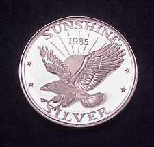 """1985 SUNSHINE MINING """"FLYING EAGLE"""" 1 TROY OZ .999 FINE PROOFLIKE SILVER ROUND"""