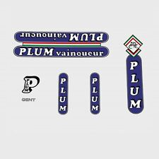 Plum Vainqueur Bicycle Frame Decals - Transfers - Stickers n.100