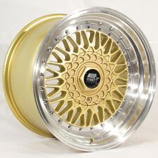 MST MT13 16x8.0 5x100/5x114.3 et20 Gold w/Machined Lip Wheels (Set of 4)