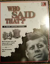 Who Said That A Quiz Jigsaw Puzzle Famous People & Quotes 252 Pieces SEALED