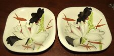 "2 VINTAGE Red Wing Lotus Flower 5 1/8"" berry/fruit bowls"