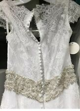 NWT Rare Allure Bridal Romance Wedding Gown 9061 Lace Size 12, Fits 8