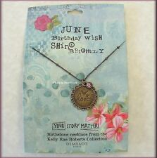 JUNE BIRTHSTONE NECKLACE BY KELLY RAE ROBERTS FASHION JEWELRY FREE U.S. SHIPPING
