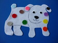 Felt Flannel Board Story Dog's Colorful Day