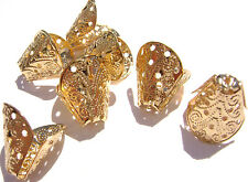 6031FN Bead Cap Gold Silver ptd Brass, Filigree Cone, 12mm,  25 Qty and 100 Qty