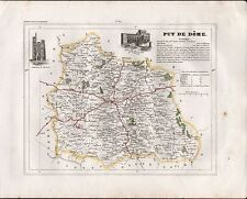 1841 ANTIQUE MAP MONIN FRANCE H/COL - DEPARTMENTS, PUY DE DOME CLERMONT RIOM THI
