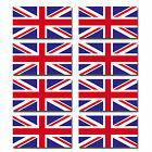 8 x Glossy Vinyl Stickers - Union Jack UK Small Flag Sticker Bike Helmet #0064