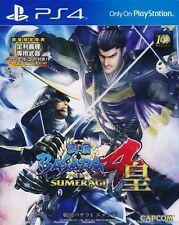 Sengoku Basara 4 Sumeragi PS4 Game Asia Version (Japanese) Brand New Sealed