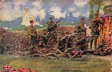 CARTE POSTALE MILITARIA GUERRE 14/18 FANTASSINS ANGLAIS ENGLISH SOLDIERS