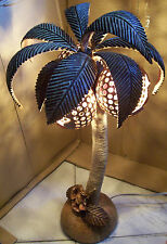 Wood Floor Lamp Palm Tree Decorative Lights Unique Cool Large Coconut Realistic