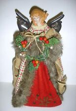 New 12in Country Dressed Angel Tree Top Figurine Christmas Figure Decoration