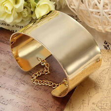 Minimalist Style Gold Hammered Textured Metal Wide Cuff Bracelet For Lady Girls