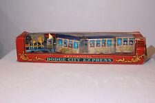 1950's Marx Windup Dodge City Express Zig Zag Train With Box,  Works