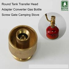 Round Tank Transfer Head Adapter Converter Gas Bottle Screw Gate Copper