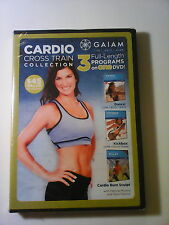 Cardio Cross Train Collection (DVD, 2010) 3 DVDS in 1 Gaiam Brand New Sealed