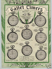 1930 PAPER AD 2 Sided Gallet Pocket Timer Chronograph Boxing Alarm Football