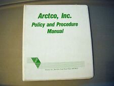 Vintage Arctic Cat Arctco, Inc Policy And Procedure Manual 3 Ring Binder (White)