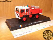Camion de pompiers 1:64 ccf 2000 iveco 80.17 france 1992 voiture