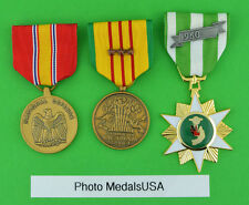 Vietnam Campaign, Service and National Defense Medals 3 campaign/battle stars