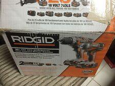Ridgid 18v Cordless Combo kit R9602: R86008 Drill R86034 Impact Driver