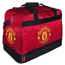 Manchester United FC Official Football Gift Sports Kit Bag Holdall Red