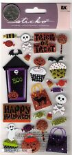 Sticko Halloween Stickers Trick or Treat, Ghosts, Skulls, Candy, Boo
