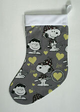 CHRISTMAS STOCKING - Snoopy / Peanuts Print.