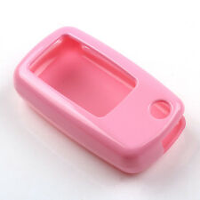Pink Auto Flip Remote Key Fob Case Cover Holder for VW Golf Beetle Jetta Touareg