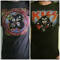 **Kiss Gene Simmons T-Shirt** Unisex Retro Rock Vest Tank Sizes S M L XL