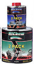 2PACK ACRYLIC ISOFREE CLEAR COAT KIT ISO-FREE 5LTR INCL THINNER. 2K CLEARCOAT