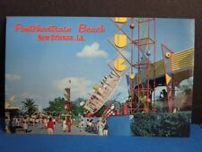 PONTCHARTRAIN BEACH POSTCARD- BUG RIDE- NEW ORLEANS 1960s