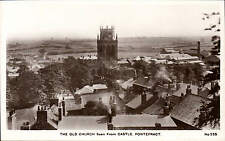 Pontefract. The Old Church Seen From Castle # 235 by H. Burniston, Leeds.