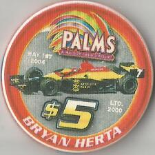 LAS VEGAS PALMS  $5  BRYAN HERTA 2004 RACING ANDRETTI GREEN  CHIP