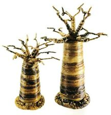 Set of 2 Baobab Jewelry Tree Stands Rings Earrings Displays African Art