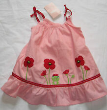 NWT 3-6 M Gymboree POPPY FRIENDS Pink Frog Poppy Floral Dress w Bloomers